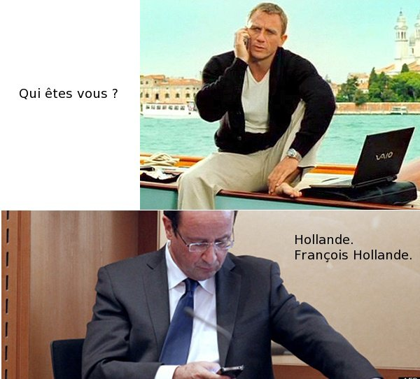 Hollande rpond  James Bond